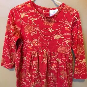 Hanna Anderson Fall Dress long sleeved. Red.